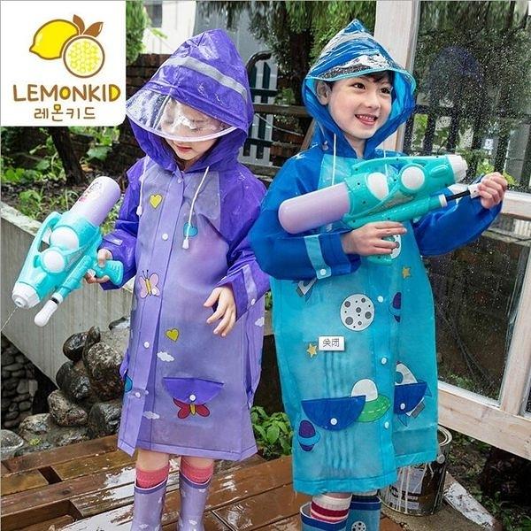※現貨 韓國lemoinkid 亮彩卡通EVA兒童雨衣 立體書包位雨衣 安全反光 3色 S-L碼【K95001】