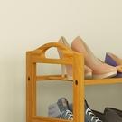 2層70簡約現代鞋架多層簡易實木楠竹小鞋...