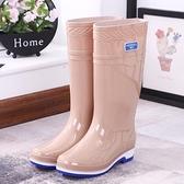 雨靴 防水鞋長筒雨鞋踩水雨靴水靴膠鞋套鞋女成人時尚中筒高筒防滑夏季 維多原創