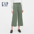 Gap女裝簡約風格純色休閒長褲542957-雪原森林圖案
