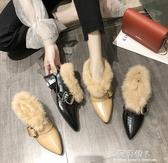 尖頭單鞋女百搭英倫小皮鞋粗跟高跟鞋毛毛瑪麗珍晚晚鞋子 完美情人館