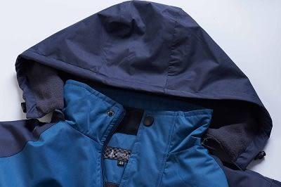 JOHN DUKE約翰公爵 戶外連帽鋪棉防風防潑水外套  (灰藍)