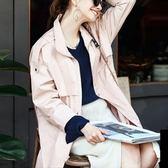 風衣外套-流行大方單排釦翻領女夾克73hu53[時尚巴黎]