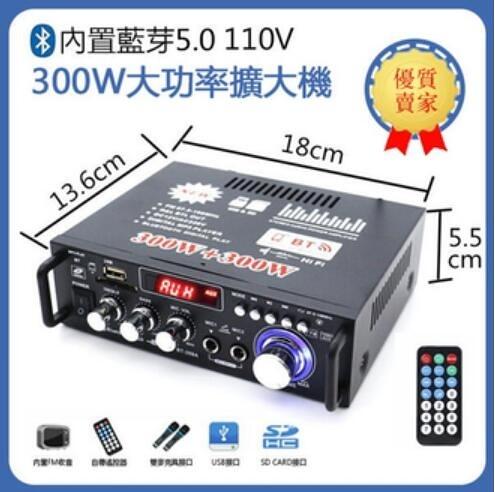【24H現貨】110V藍牙音箱 擴大器 小型卡拉OK 唱歌 KTV 迷你 家用 音響 放大器 擴音機