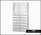 {{ 海中天辦公傢俱 }} C-10 摩登時尚 OA衣櫃/公文櫃系列 212-20 一般抽屜六層式(3x6尺)