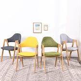 餐椅家用現代簡約凳子靠背書桌椅網紅化妝椅子北歐仿實木桌椅組合  ATF  喜迎新春