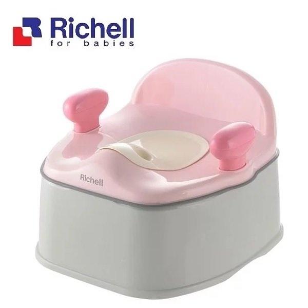 Richell 利其爾Pottis 椅子型三階段訓練便器 (粉色) 1485元