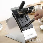 刀架廚房用品置物架菜刀架刀具架刀座廚房收納刀架不銹鋼TA3225【極致男人】