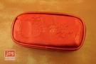 Hello Kitty 凱蒂貓 壓紋橢圓筆袋 收納袋 紅 970860