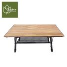 丹大戶外【Outdoorbase】胡桃色休閒木紋桌(L) 木桌 蛋捲桌 手作木桌休閒桌 25476