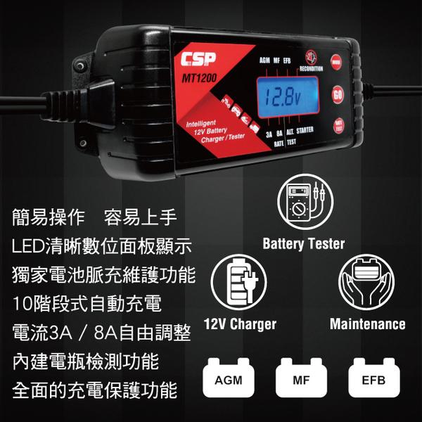 MT1200機車電瓶充電器&檢測器/自行保養電瓶 電瓶維護 電壓偵測 沒電充電 自行檢測 全電壓