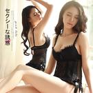 粉紅拉拉【PEG1387】透膚蕾絲馬甲睡...