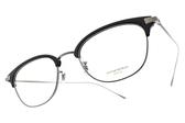 OLIVER PEOPLES 光學眼鏡 ERVIN 5076 (黑-銀) 紳士微貓眼款 鈦眼鏡 # 金橘眼鏡