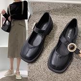 任選2雙888學院風向日葵裝飾馬蹄跟低跟瑪麗珍鞋【02S13544】