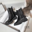 馬丁靴 女新款秋冬季英倫風雪地靴子加絨百搭瘦瘦短靴棉鞋子 限時優惠