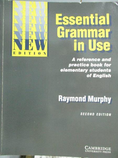 【書寶二手書T9/原文書_YAS】Essential Grammer in Use: Without Answers_M
