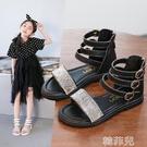 女童涼鞋 新款女童涼鞋高幫羅馬鞋水晶公主鞋軟底兒童鞋子小女孩童鞋夏 韓菲兒