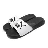 Puma 拖鞋 Popcat 20 黑 白 男鞋 女鞋 運動拖鞋 涼拖鞋 【ACS】 37227909