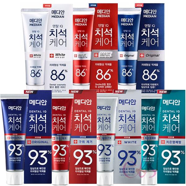 韓國 麥迪安 MEDIAN 86% / 93% DENTAL IQ 強效淨白去垢牙膏 120g 艾莉莎ELS