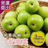 家購網嚴選 屏東高樹牛奶蜜棗 3斤X4盒 特大 (約11-12顆/盒)【免運直出】