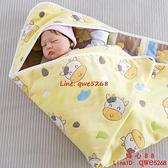 牛寶寶純棉紗布初生新生嬰兒包被被產房包巾裹布【齊心88】