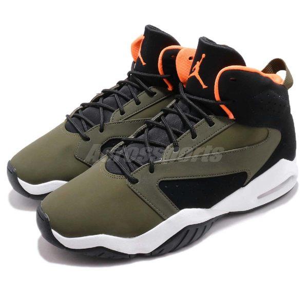 Nike 籃球鞋 Jordan Lift Off 綠 軍綠 黑 高統 皮革鞋面 氣墊設計 運動鞋 男鞋【PUMP306】 AR4430-300