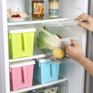 手柄廚房冰箱收納盒(隨機出貨) 附蓋 收...