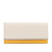 【LV】EPI 拼色壓釦長夾(白色/黃色/灰內裡) LV21000395