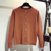2019春裝新款寬鬆線衣開衫短款薄款學院風毛衣女厚外套針織衫潮-ifashion