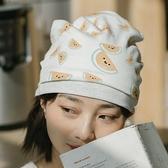 月子帽 夏薄款產婦室內可愛孕婦棉質帽子產后防風頭巾髮帶【幸福小屋】