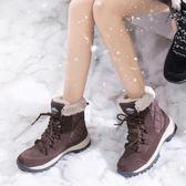 雪靴 女短筒冬潮韓版百搭防水防滑戶外厚底東北女棉鞋