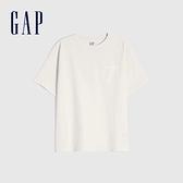 Gap男童 純棉基本款圓領短袖T恤 785201-灰白色