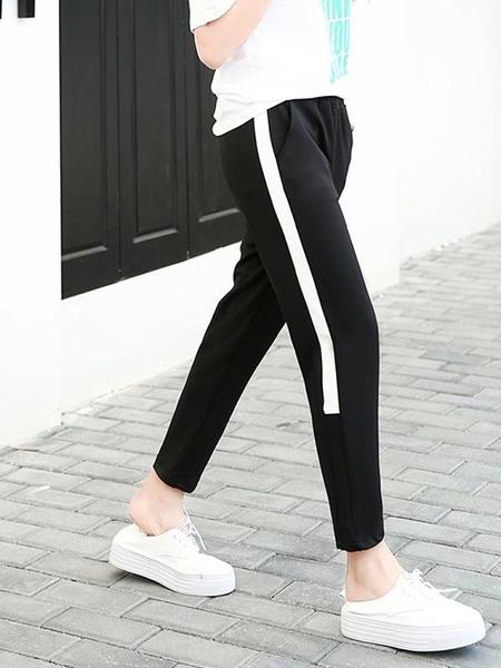 2020春裝新款韓版寬鬆運動褲女九分褲顯瘦哈倫褲學生休閒褲子夏季 茱莉亞