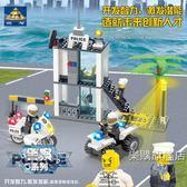 組裝積木兼容樂高開智積木拼裝城市警察局系列組裝兒童拼插警車玩具男孩子