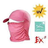 EX2 中性全防護超輕棒球帽UPF30+ 玫紅 351315