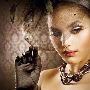 羽毛蕾絲頭飾 小禮帽發夾 網紗面