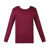 【南紡購物中心】Tommy Hilfiger (女)經典刺繡標誌圓領長袖T恤-酒紅