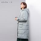 a la sha +a 氣質綁帶長板鋪棉外套