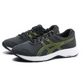 ASICS 慢跑鞋 墨綠 銀光條 網布 4E 超寬楦 透氣 男 (布魯克林) 1011A666022