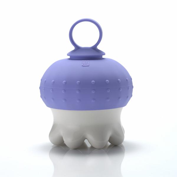 《乾唐軒活瓷》熱波按摩器( 圓足/  白 / 紫指環 )