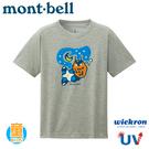 【Mont-Bell 日本 童 Wickron T恤 夜的森 短袖排T《炭灰》】1114422/排汗衣/兒童t恤/快乾