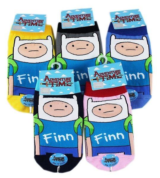 【卡漫城】探險活寶 阿寶 襪子 15-22cm 3雙組 ㊣版 直板襪 Adventure Time 短襪 老皮 好朋友