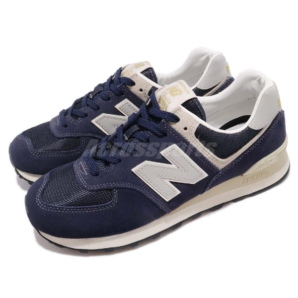 New Balance ML574 D 藍 灰 麂皮 男鞋 經典款 休閒慢跑鞋 運動鞋【PUMP306】 ML574VLAD