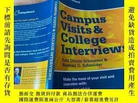 二手書博民逛書店Campus罕見Visits and College Interviews (College Board Camp