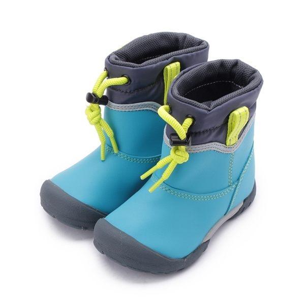 MOONSTAR 防水束帶速乾雨鞋 藍綠 MSC22101 中童鞋 鞋全家福