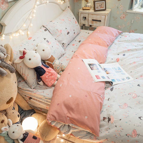 少女漫畫 D2雙人床包薄被套四件組 100%精梳棉 台灣製 棉床本舖