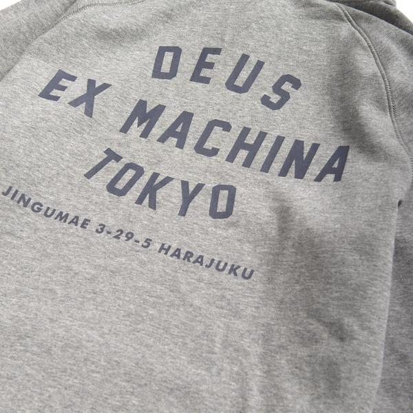 Deus Ex Machina  Tokyo Address Hoodie  連帽上衣-灰(男/女)