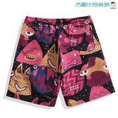 雙十一預熱寬鬆海灘褲男速干平角泳褲【洛麗的雜貨鋪】