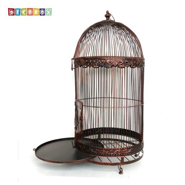 DecoBox巴洛克古銅巨型鳥籠花架(鳥籠,園藝,花台,多肉花架,鍛鐵展示架)