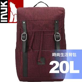 【INUK 加拿大 20L時尚生活背包《絳紅》】IKB50416100044/後背包/背包/